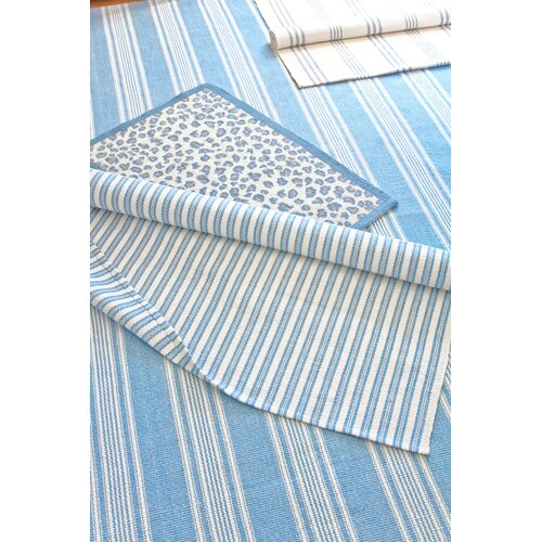 Dash and Albert Rugs Woven Sail Blue Stripe Rug