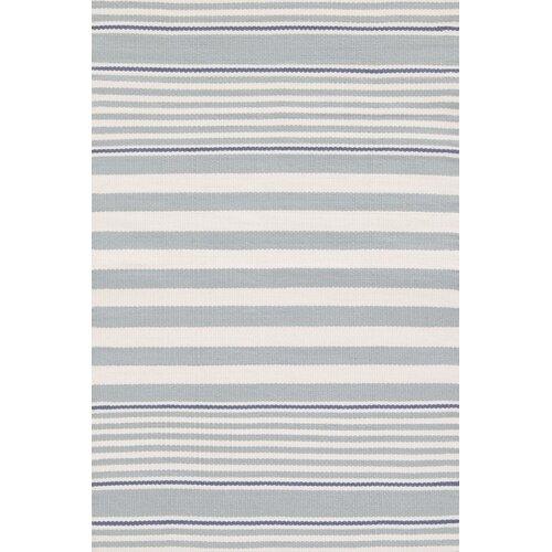 Indoor/Outdoor Beckham Blue Striped Rug