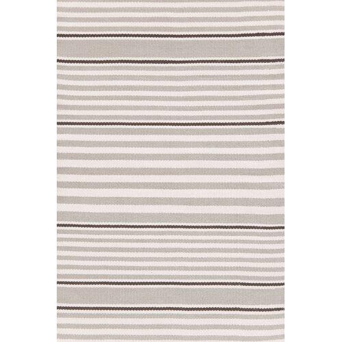 Indoor/Outdoor Beckham Platinum Striped Rug
