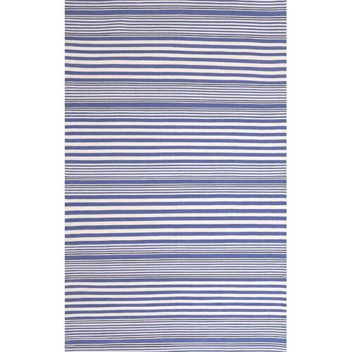 Indoor/Outdoor Rugby Denim Striped Rug