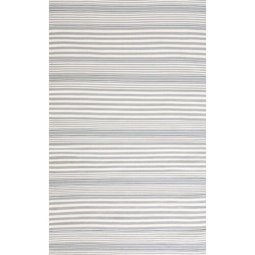 Rugby Light Blue Striped Indoor/Outdoor Rug