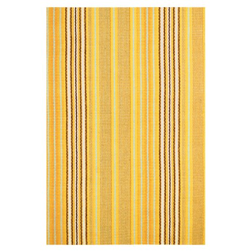 Dash and Albert Rugs Woven Sunflower Ticking Rug