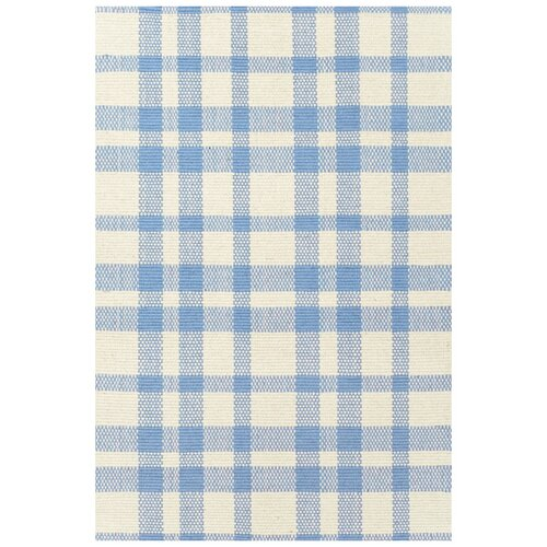 Dash and Albert Rugs Woven Tattersall Blue/Cream Rug