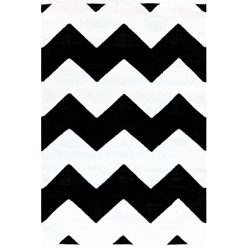 Indoor Outdoor Rugs Black And White: Dash And Albert Rugs Chevron Black & White Indoor/Outdoor