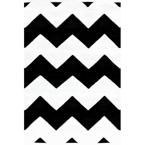 Black And White Chevron Bathroom Rug: Dash And Albert Rugs Chevron Black & White Indoor/Outdoor