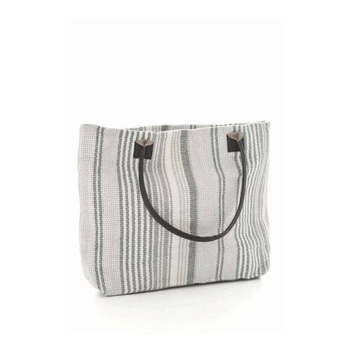 Gradation Ticking Woven Cotton Tote Bag