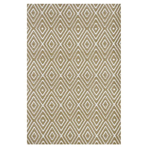 Woven Diamond Khaki/White Indoor/Outdoor Rug
