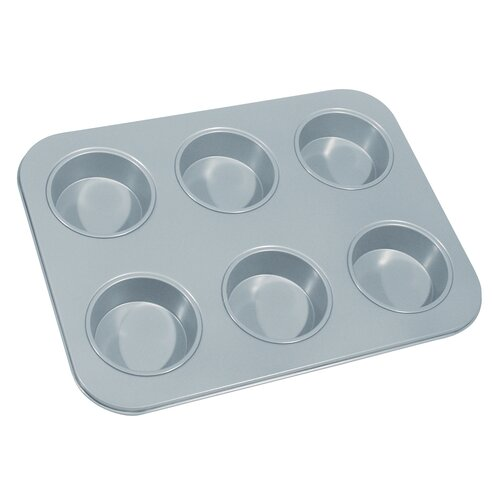 Non-Stick 6 Cup Large Muffin Pan