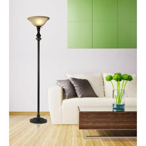 Hazelwood Home Torchiere Floor Lamp