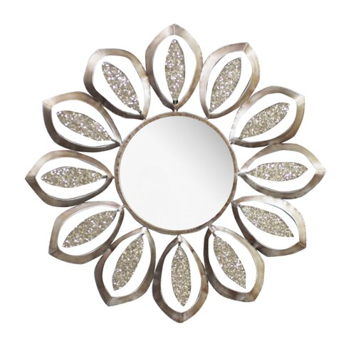 Hazelwood Home Round Metal Mirror