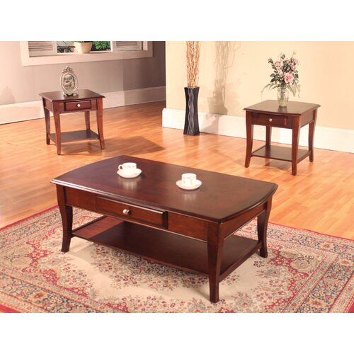 Hazelwood Home Hazelwood Home 3 Piece Coffee Table Set