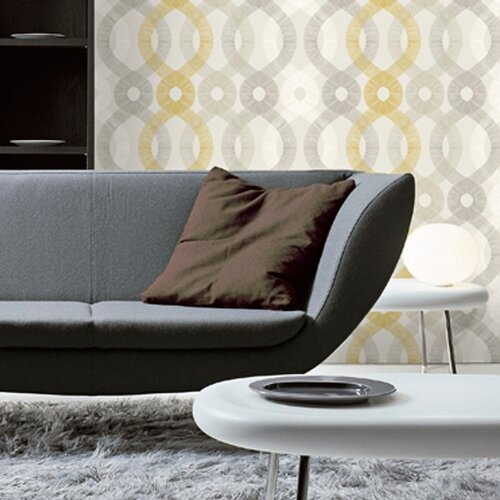 Kreme LLC Handcrafted Spiro Geometric Wallpaper