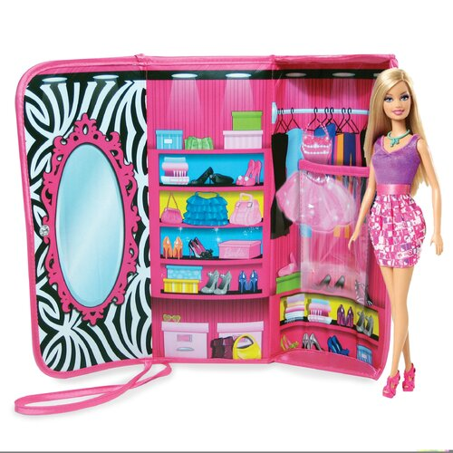 ZipBin Barbie™ Clutch and Closet