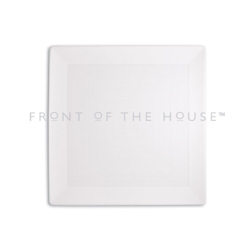 "Front Of The House Spiral 10"" Square Plate"