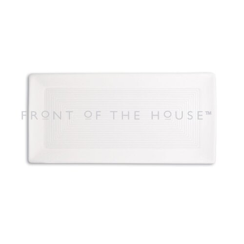 """Front Of The House Spiral 14"""" x 7""""  Rectangle Plate"""