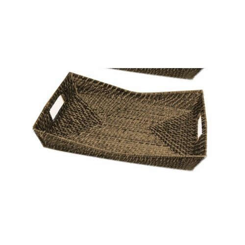 Front Of The House Rattan Rectangle Flare Serving Tray