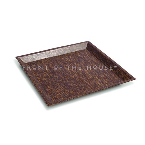 "Front Of The House Palm 9.5"" Square Wood Plate"