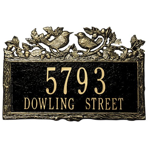 Whitehall Products Woodland Wren Standard Address Plaque