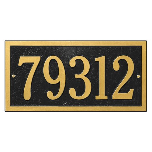 Whitehall Products Bismark Address Plaque