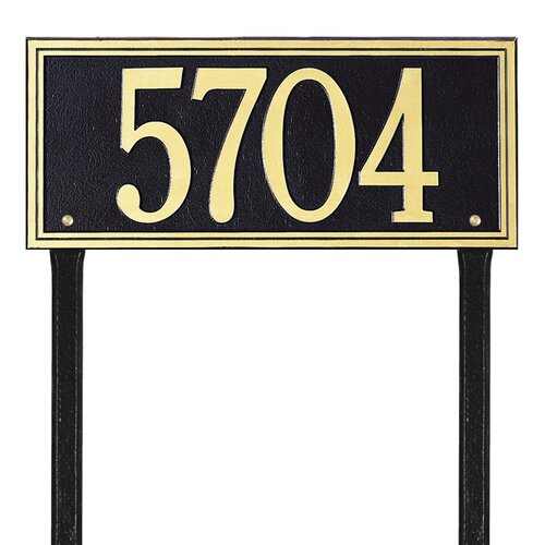 Whitehall Products Double Line Estate Address Sign
