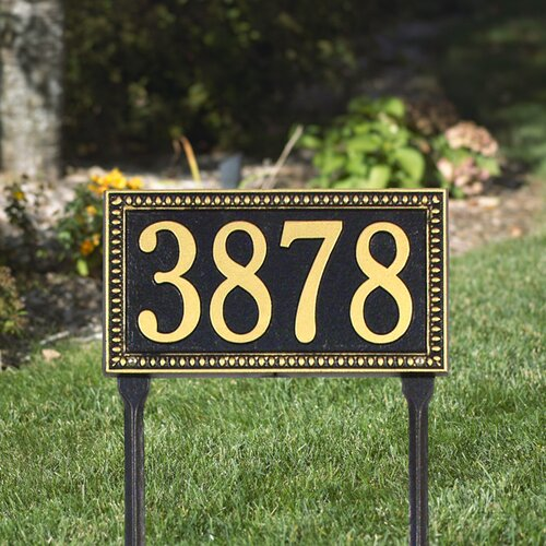 Whitehall Products Egg and Dart Standard Address Sign