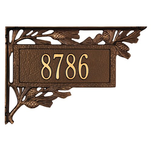 Pinecone Mailbox Address Plaque