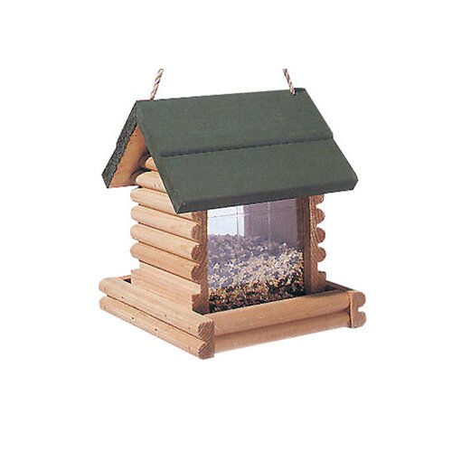 North States Log Cabin Hopper Bird Feeder