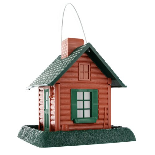 North States Log Cabin Village Decorative Bird Feeder
