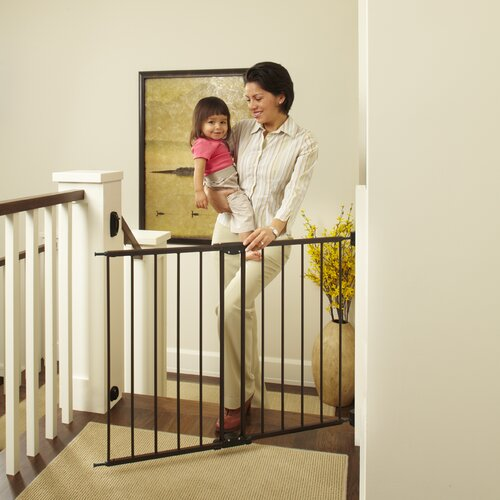 """Evenflo Home Decor Wood Swing Gate: Evenflo Safety 42"""" Position & Lock Gate & Reviews"""