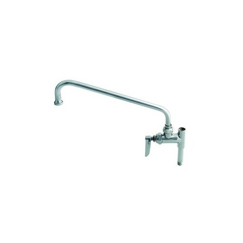 "T&S Brass Add-On Single Hole Faucets For Pre-Rinse Units with 18"" Spout"