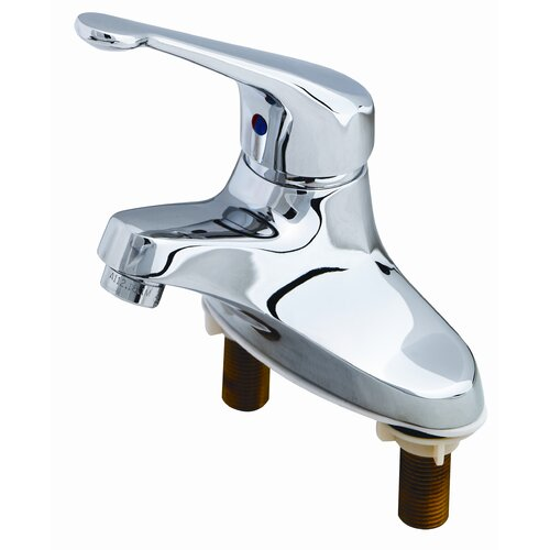 T&S Brass Centerset Bathroom Faucet with Single Lever Handle