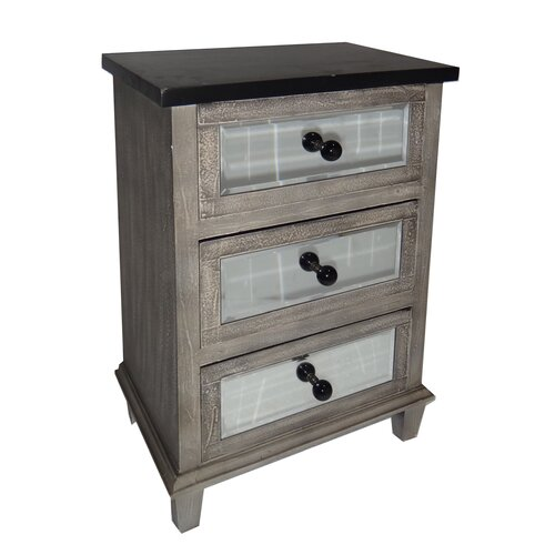 3 Drawer Wood Cabinet