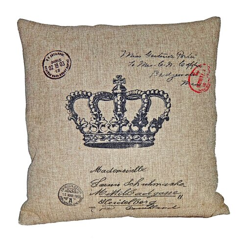 Square Pillow with Crown