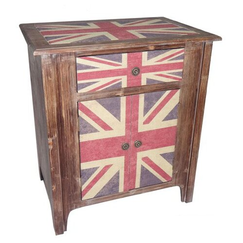 Cheungs Union Jack 1 Drawer 2 Door Cabinet