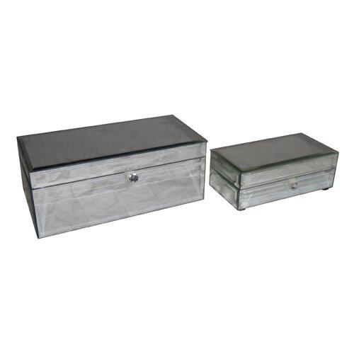 Cheungs Rectangular Beveled Glass Keepsake Box