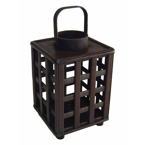 Cheungs Wooden Square Tall Lantern