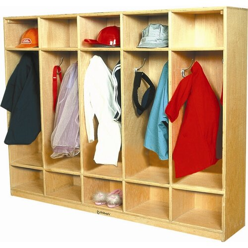A+ Child Supply 5-Section Coat Locker