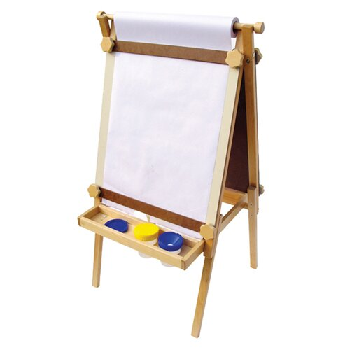 A+ Child Supply Adjustable Easel with Black / Dry Erase Board