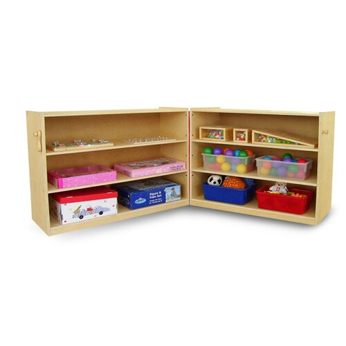 A+ Child Supply Portable Fold and Lock Shelf Cabinet