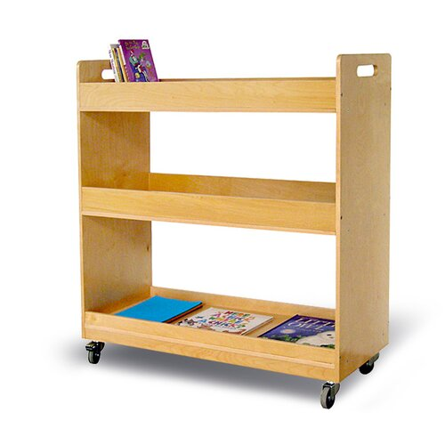 A+ Child Supply Flat Library Book Cart