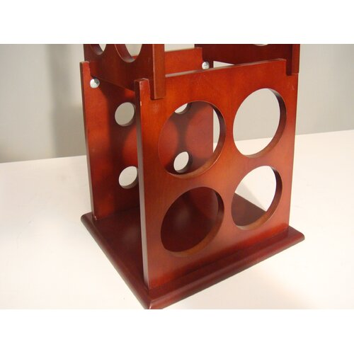 Proman Products Fuji 8 Bottle Tabletop Wine Rack