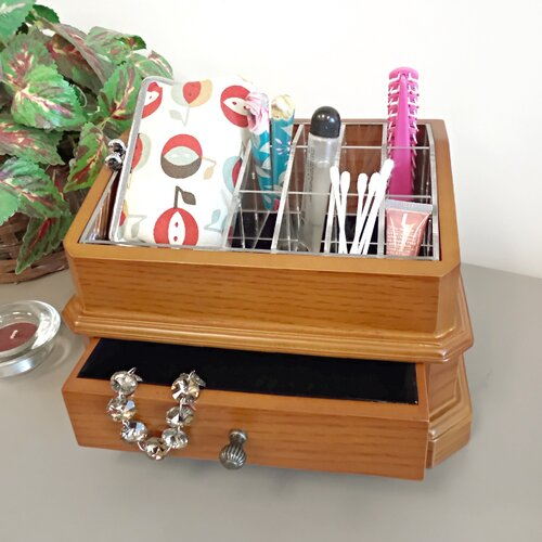 Proman Products Bellissimo Rome Cosmetic Organizer Jewelry Box