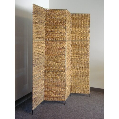 "Proman Products 67"" x 15"" Jakarta Folding Screen 4 Panel Room Divider"
