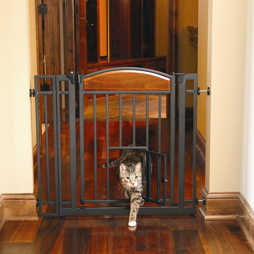 Carlson Pet Products Design Studio Walk Through Pet Gate with Small Pet Door
