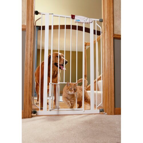 Extra Tall Pet Gate with Pet Door