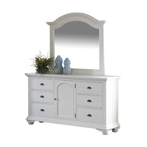 Greystone Aden 6 Drawer Combo Dresser and Mirror Set