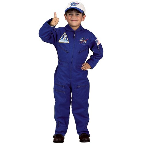 Flight Suit with Embroidered Cap Costume