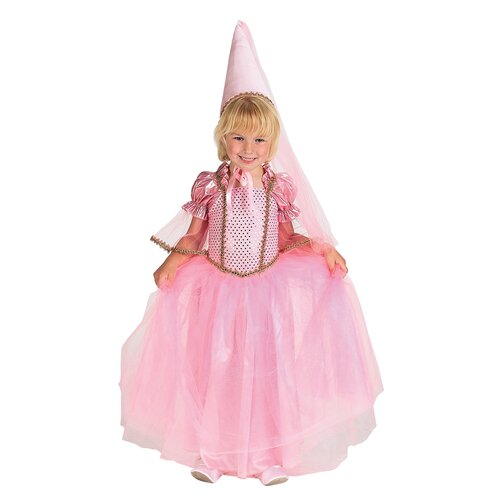 Princess Dress with Hat Costume in Pink