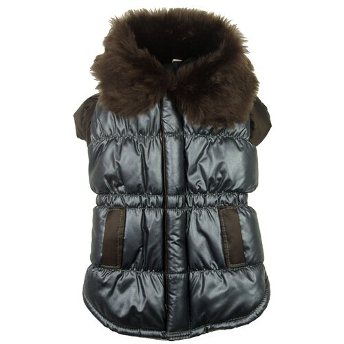 Ultra Fur Collar Metallic Dog Jacket