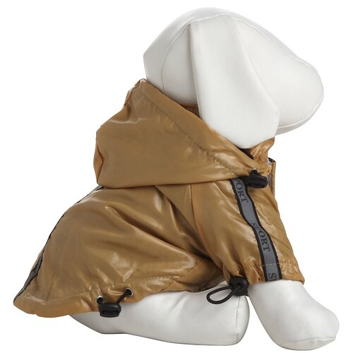Pet Life Reflecta Sport Dog Rainbreaker with Removable Hood in Musturd